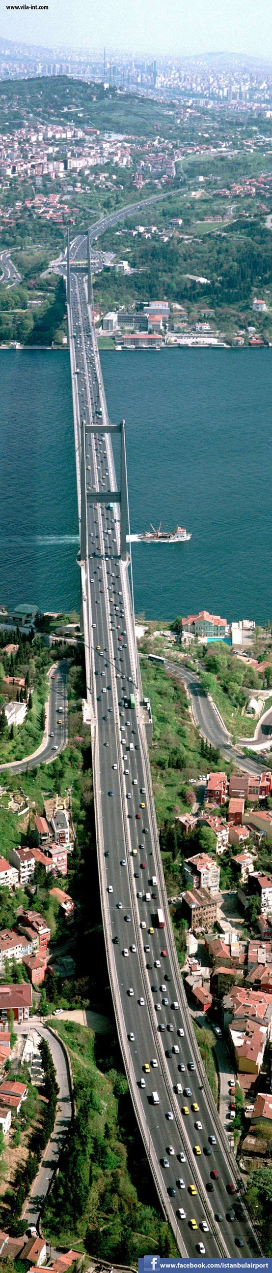 Photo:  Bosphorus Bridge Istanbul. It is 1,510 m (4,954 ft)